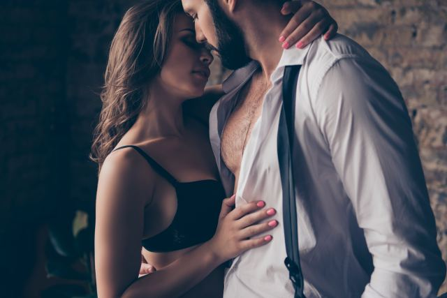 Paar bei einem intimen Moment