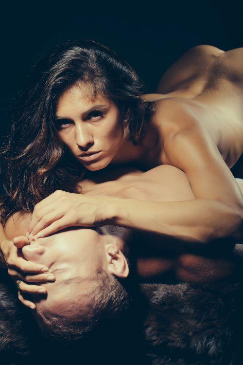 Horny couple enjoying torrid sex
