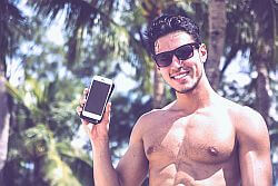 hot guy taking a dick pic