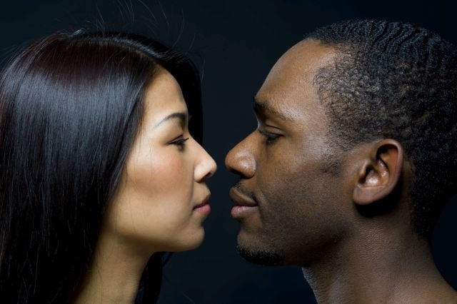 diverse couple dating