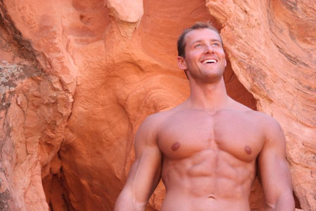 athletic sexy man with naked torso