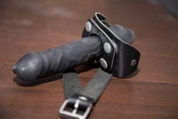 black strap-on