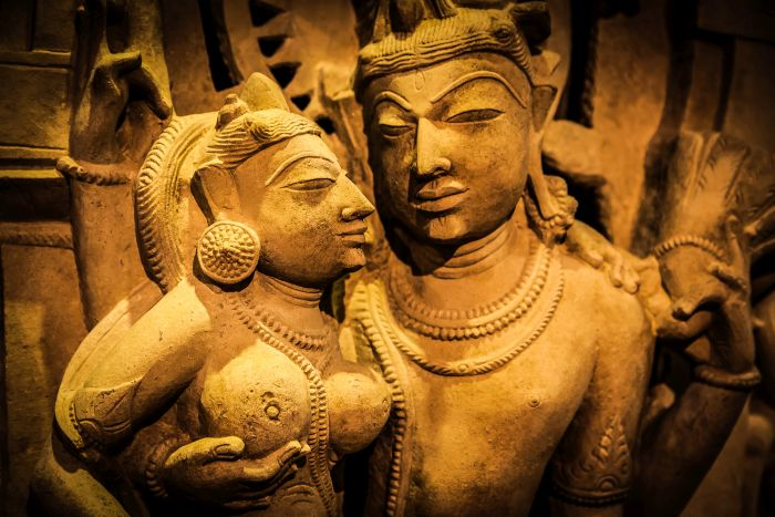 hindu stone pair for tantra