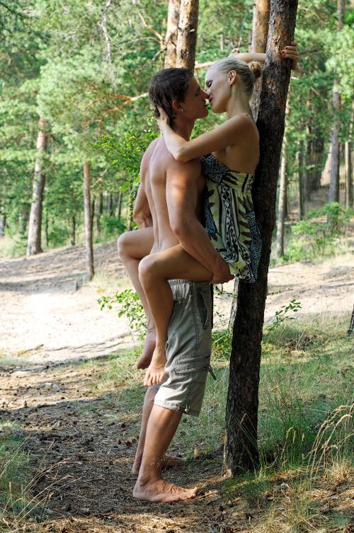 couple enjoying sex in public