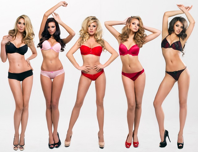 Five lovely women in lingerie