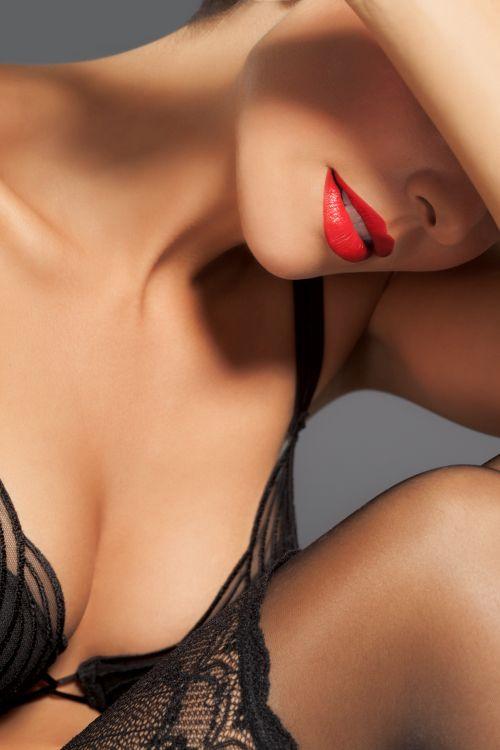 Houston Milf wearing red lipstick