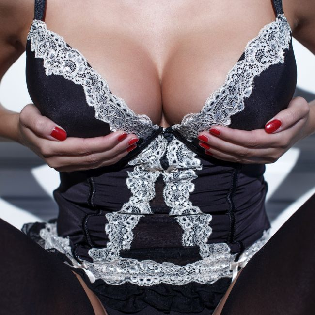 milf boobs in sexy lingerie