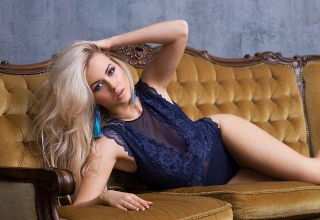 sexy Frau in Reizwäsche