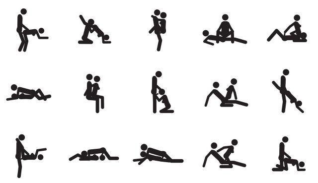 Piktogramm mit Paaren beim Sex