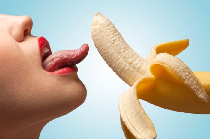 Sexy Lippen mit Banane