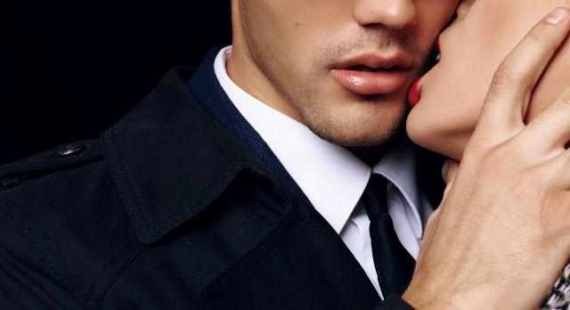 Paar kurz vor einem Kuss
