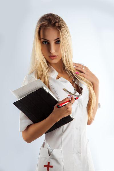Attraktive Krankenschwester