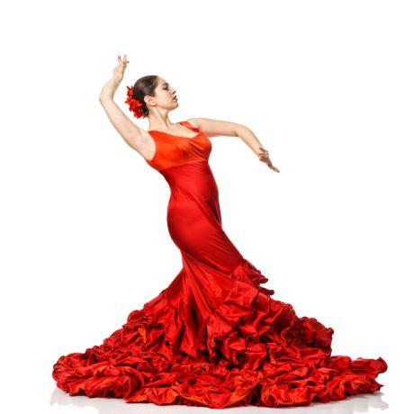 Frau tanzt Flamenco
