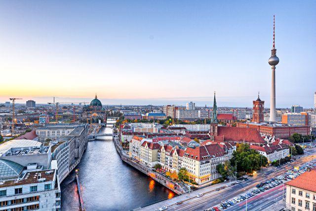 Blick auf Berlin und die Spree