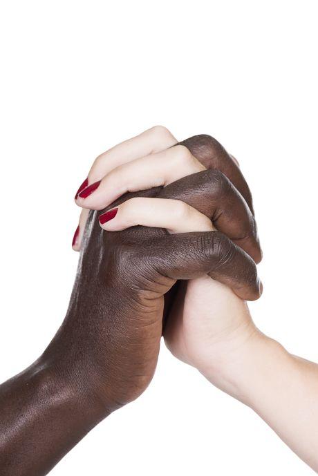 Schwarz-weiße Hände