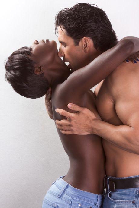 Afrikanerin mit einem Mann