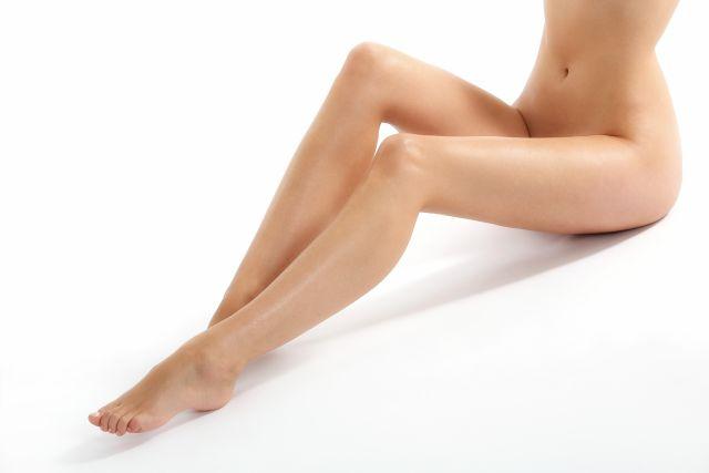 lange sexy Beine einer Frau