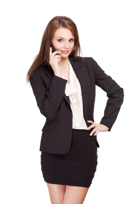 Smarte Geschäftsfrau