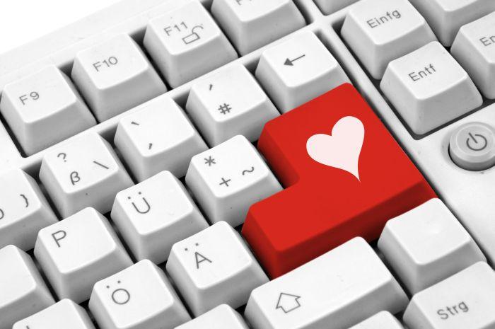 Herz-Taste auf Tastatur