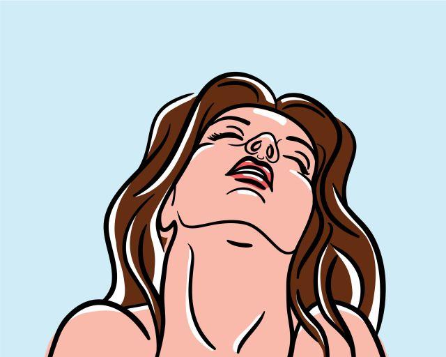 Comic - Frau beim Orgasmus